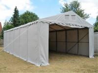 Lagerzelt 6x12 XXL grau PVC - 3m Einfahrtshöhe
