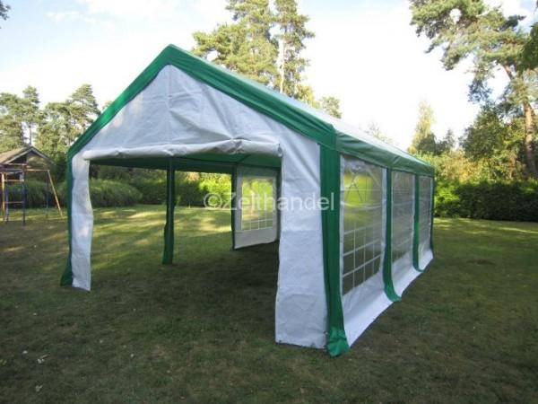 Partyzelt PE - Partyzelt mit grünem Dach für jede Gelegenheit - zelthandel.de