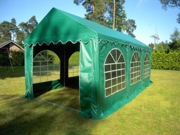 3x6m Partyzelt grün PVC wasserdicht